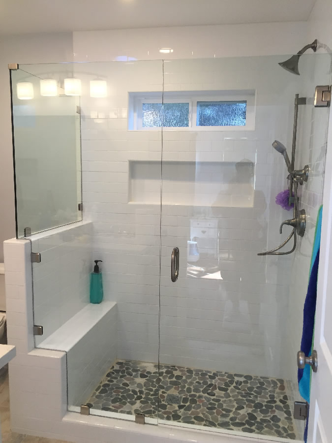 Custom Glass Enclosure With Notched Panel