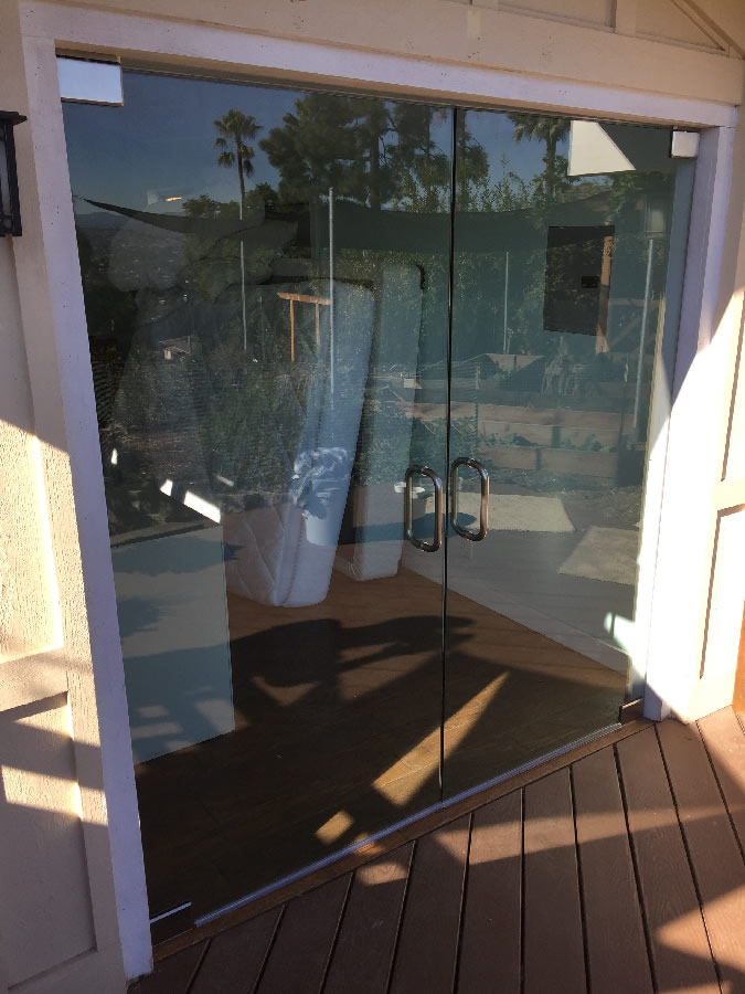 Half inch glass exterior doors patriot glass and mirror for Half glass exterior door