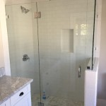 3/8 Glass Shower Enclosure With Chrome Hardware
