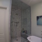 Custom 10 Foot Glass Shower Install San Diego