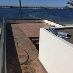 Roof Top Glass Railing Install San Diego