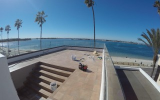 Roof Top Glass Railing Installation San Diego