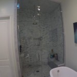 Ten Foot Glass Steam Shower Glass Intallation