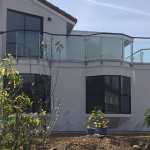 Solana Beach Glass Railing With Stainless Posts
