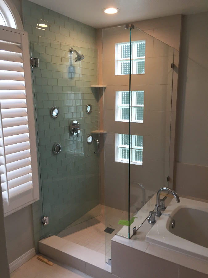 Shower And Bench Glass Enclosure California