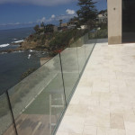 Glass Railing With Recessed Base Bird Rock