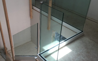 Powder Coated And Glass Railing Install