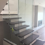 Clear Glass With Stainless Standoffs Encinita