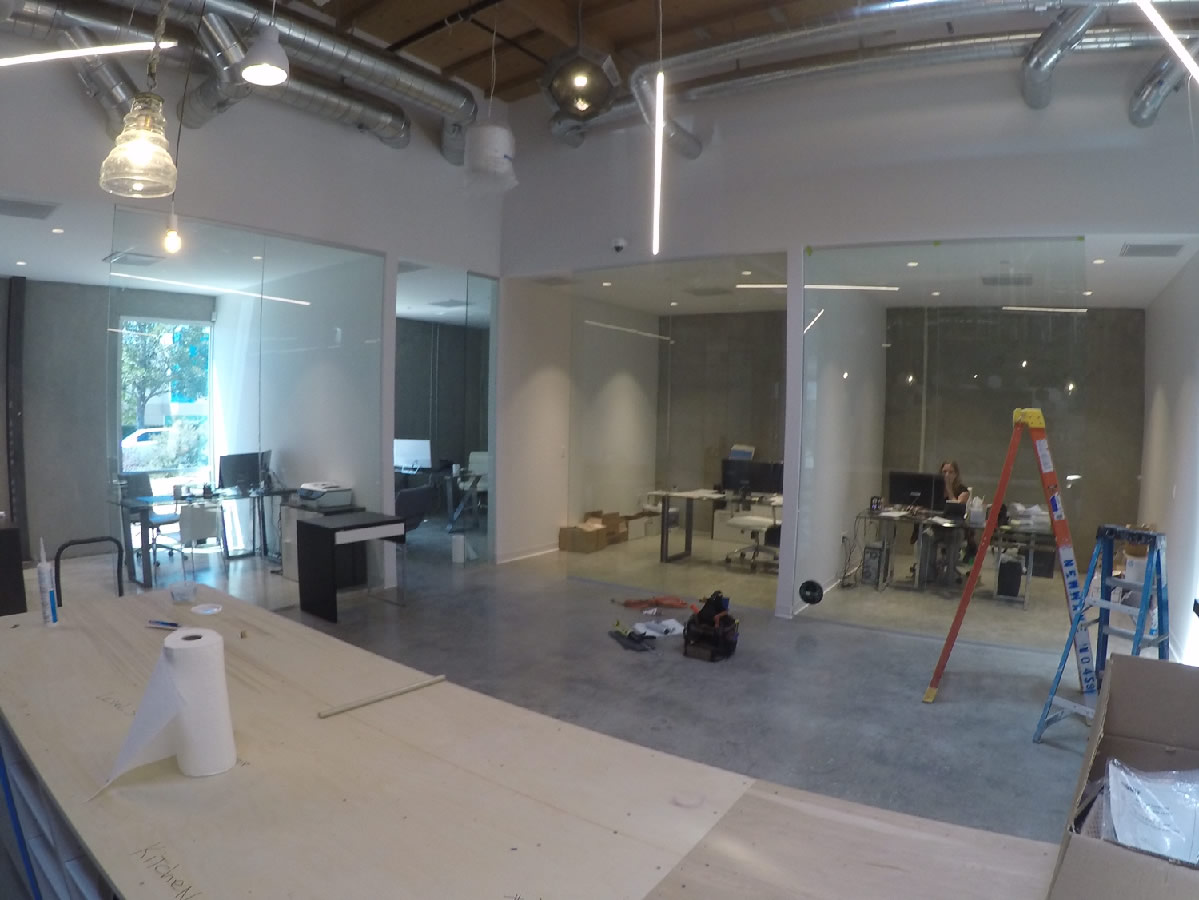 Custom Glass Office Dividers San Diego