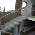 Half Inch Clear Tempered Glass Railing Install