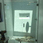 Inline Shower Door Enclosure Installation