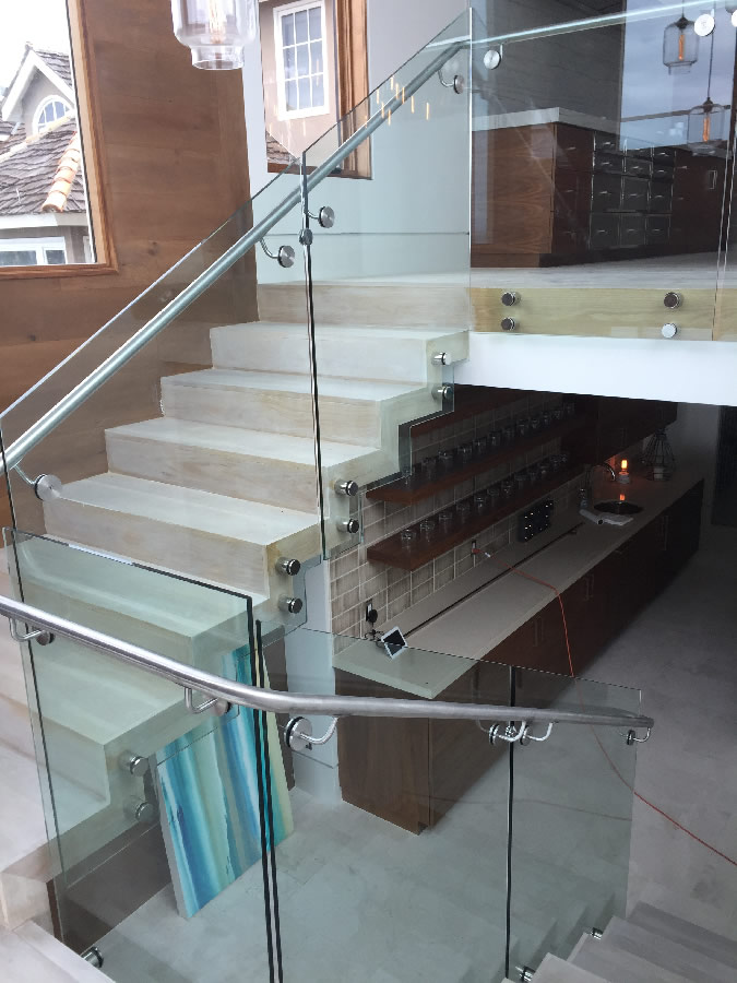Stainless Handrail And Standoffs La Jolla