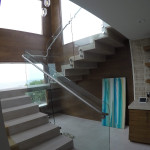 Tempered Clear Glass Railing Installation Bird Rock