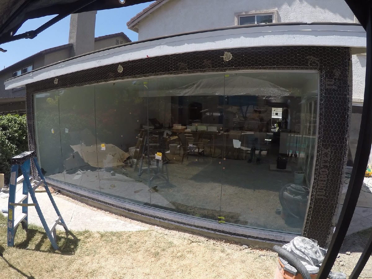 Exterior glass wall san diego patriot glass and mirror - Residential exterior glass wall panels ...
