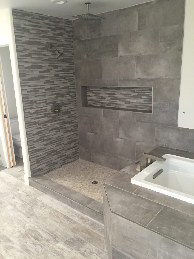 Shower With Bench - San Diego - Patriot Glass and Mirror ...
