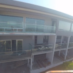 Glass Railing Install With Stainless Top Rail