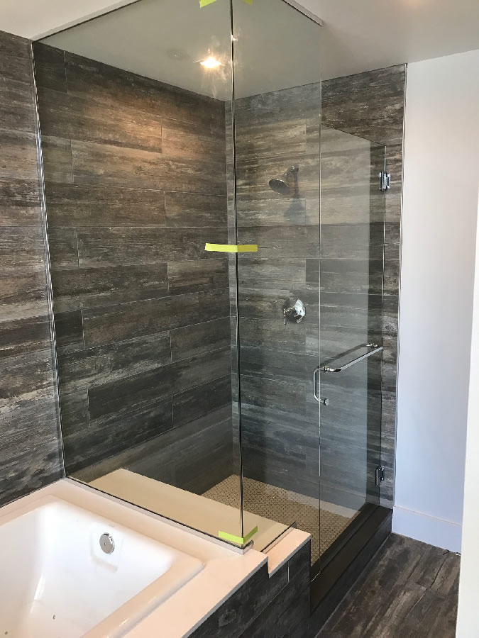 Chrome U Channel Glass Enclosed Shower Patriot Glass And Mirror San Diego Ca