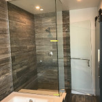 Shower Glass Set In Chrome U Channel