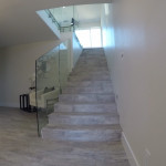Custom Glass Stair Railing With Stainless Delmar