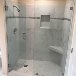 Custom Shower Glass With Brushed Nickel