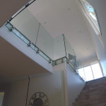 Glass Stair Railing With Stainless Steel Delmar