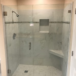 Install Shower Door With Brushed Nickel