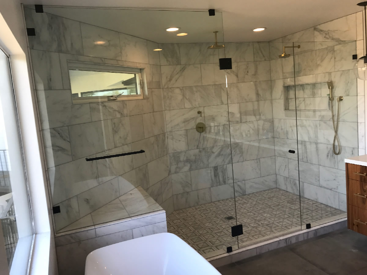 Very Large Frameless Glass Shower Enclosure - Patriot Glass and ...