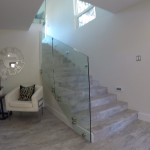 Modern Custom Glass Railing Delmar