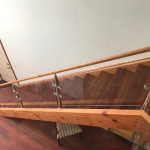 Railing Glass Wood And Stainless Stairway Solana Beach