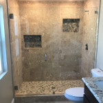 Three Eighths Inch Tempered Glass Shower Enclosure