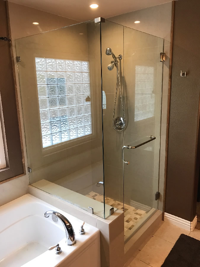 Glass Corner Shower - Poway - Patriot Glass and Mirror | San Diego CA