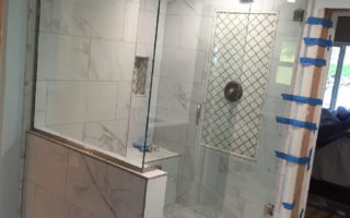 Pacific Beach Glass Install Corner Shower