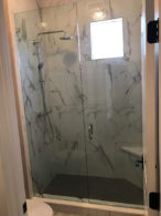 Custom One Half Inch Shower Glass Installation