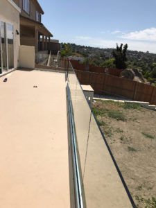 Tempered Glass Patio Railing Point Loma Patriot Glass