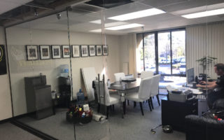 Custom Glass Office Partition Mission Valley
