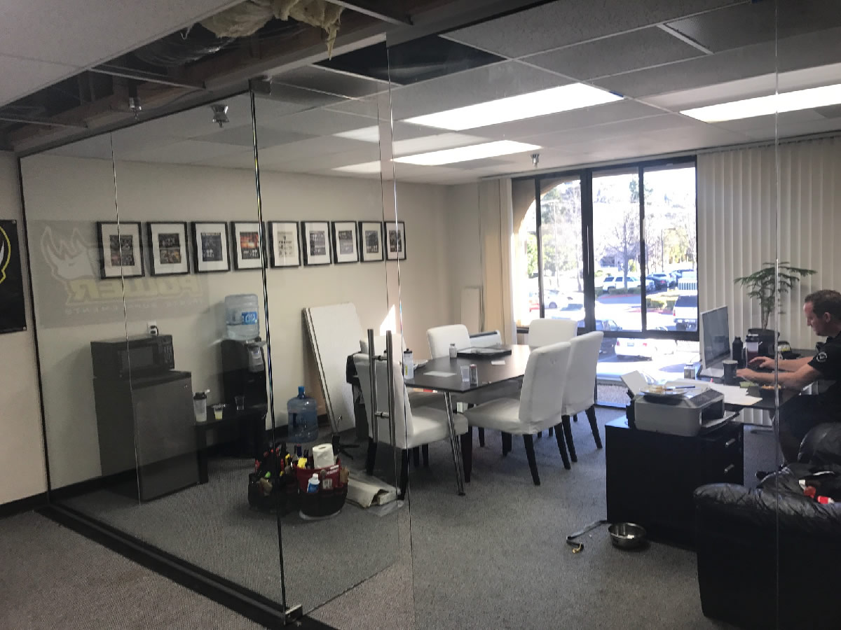 Glass Office Partition - Mission Valley - Patriot Glass and Mirror ...