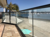 Glass Railing Set In Aluminum Base Shoe Mission Bay