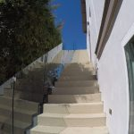 Clean Modern Style Glass Stairway Railing Del Mar