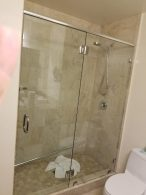 Shower Door Replaced With Frameless Glass Doors