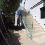 Tempered Glass Stair Railing Del Mar