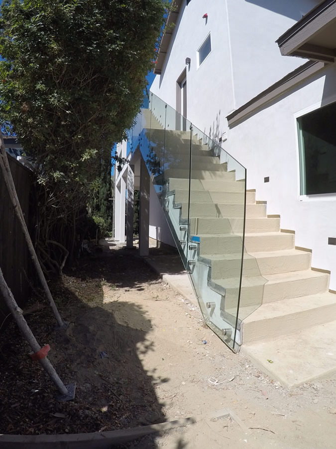 Tempered Glass Stair Railing Del Mar Patriot Glass And