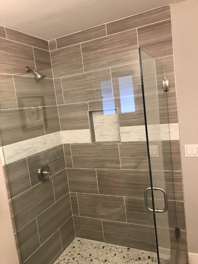 Corner Shower Glass Enclosure - Patriot Glass and Mirror | San Diego CA