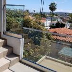 One Half Inch Glass Railing Installation Point Loma
