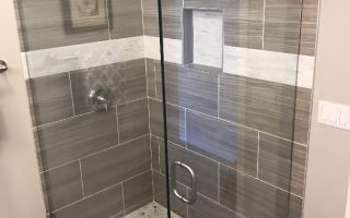 Tempered Glass Shower Ocean Beach