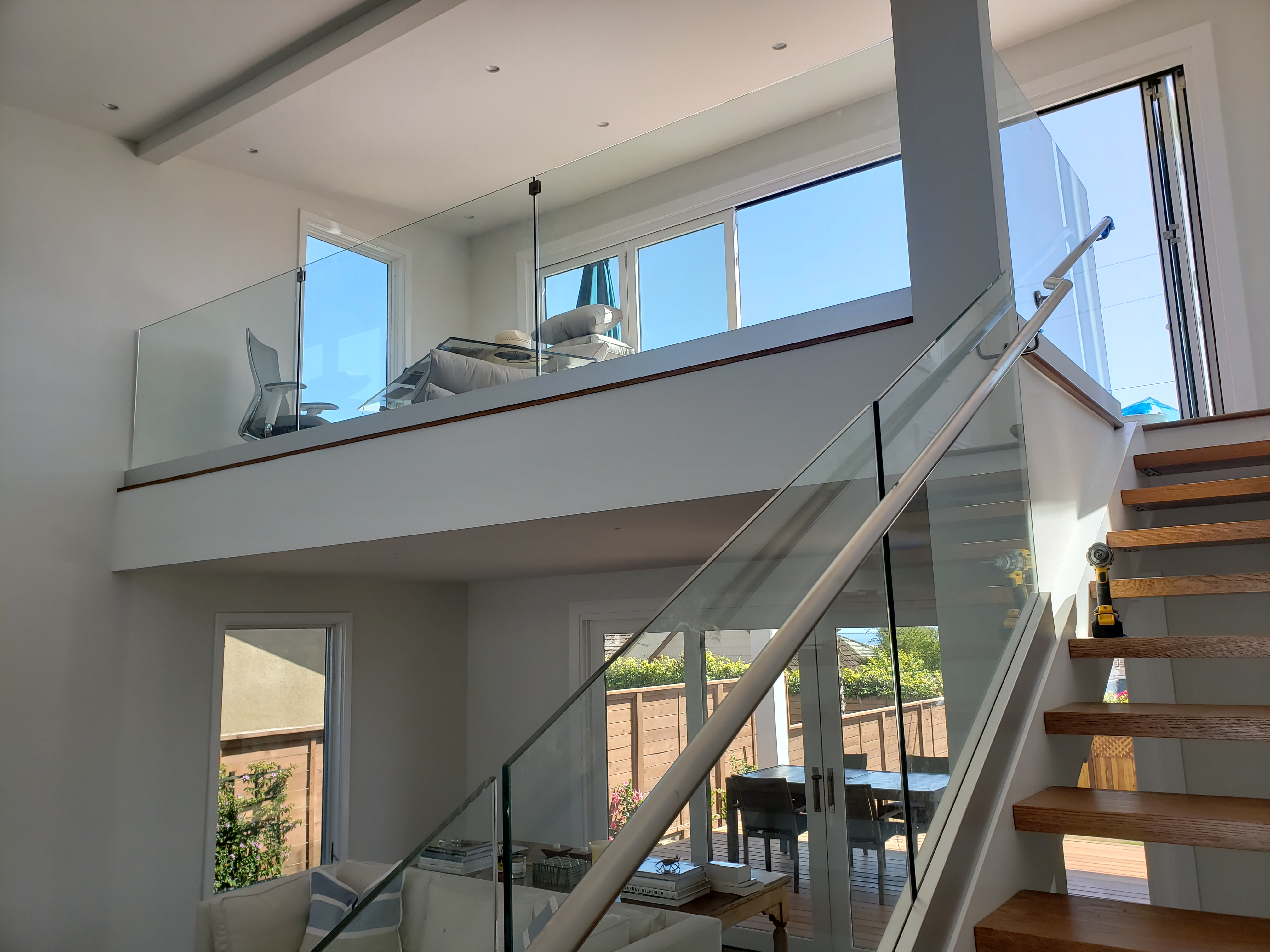 La Jolla Custom Tempered Interior Glass Railing