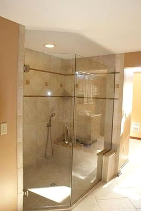 Angled Glass Shower Wall Patriot Glass And Mirror San