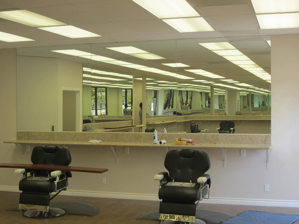 Custom Barber Shop Mirrors Hillcrest Patriot Glass And