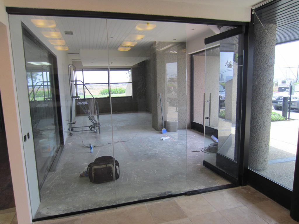 Glass Office Wall Installation Patriot Glass And Mirror
