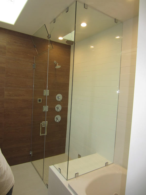 Glass Steam Shower With Vent Patriot Glass And Mirror