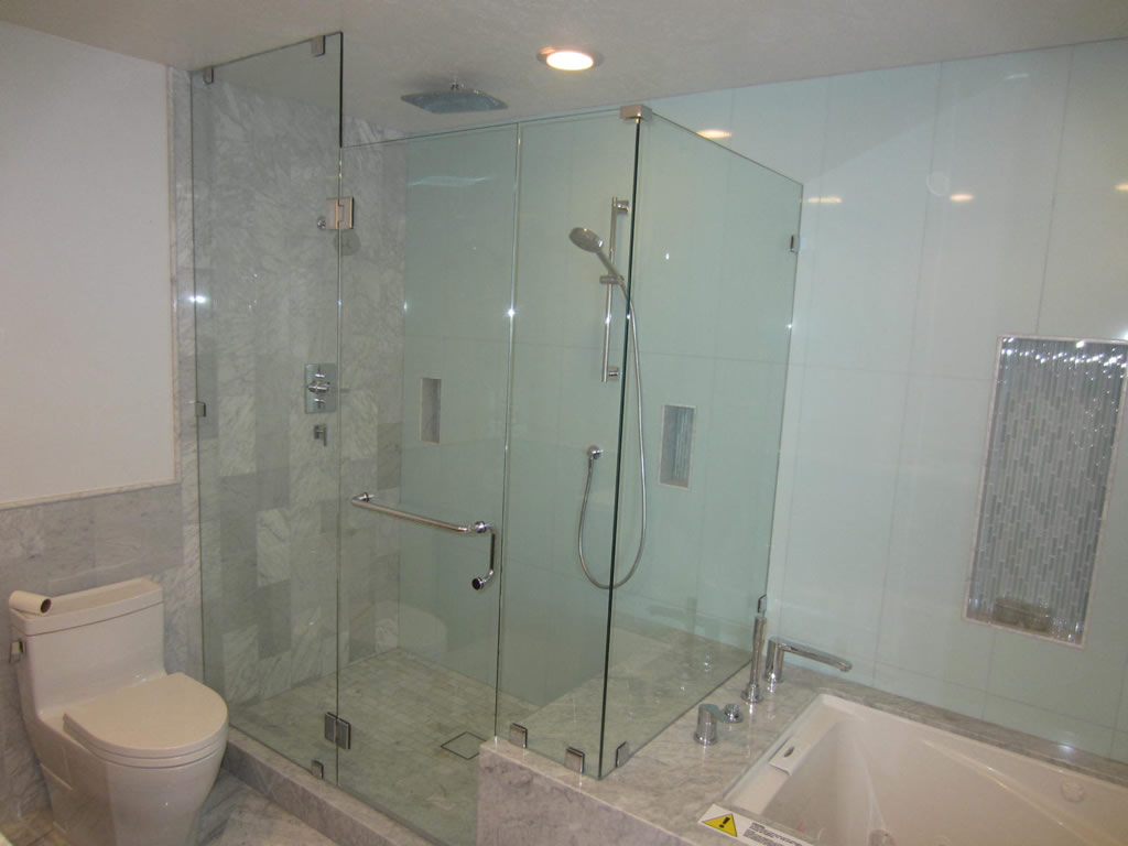 3/8 Glass Shower Enclosure Installation - Patriot Glass and Mirror ...